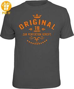 Das Geschenk-T-Shirt zum 18. Geburtstag: Original 18 Jahre - zur Perfektion gereift Größe L grau 1936 - T-Shirts mit Spruch | Lustige und coole T-Shirts | Funny T-Shirts (*Partner-Link)