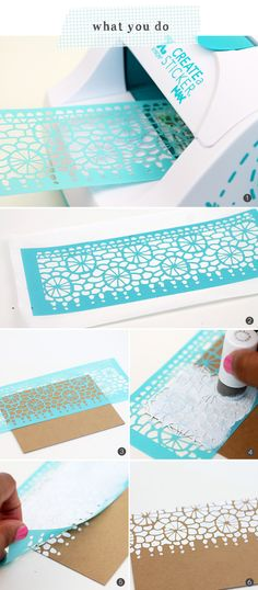 Stenciled Lace Stationery