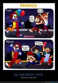 La diferencia de los payasos malvados en USA vs MEXICO - Hasta que el cobarde quiere