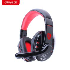 OLPEACH V8-1 Blutooth Gaming Headset Deep Bass Computer Game Headphones with microphone LED Light for computer PC Gamer #Affiliate