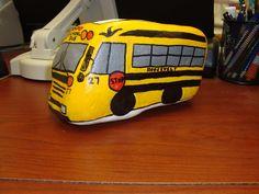 Find a rock. paint a bus!