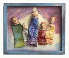 Assemblage art by the Oiseaux Sisters that uses old paint tubes.  I wish I could see things like that.