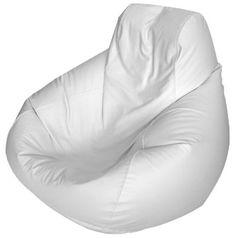 Large Teardrop Marine Bean bag (solid white)  e-searider.com