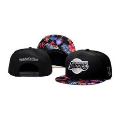 Mitchell Ness Los Angeles Lakers Confetti Flower Hats - Black