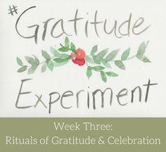 The Gratitude Experiment: Rituals of Gratitude & Celebration | The Dabblist