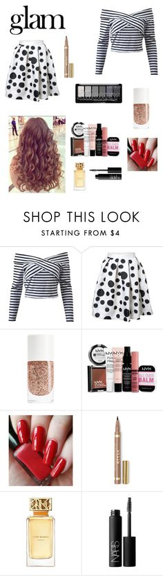 """""""Untitled #112"""" by simple-as-louise ❤ liked on Polyvore featuring beauty, Naeem Khan, NYX, Tory Burch and NARS Cosmetics"""
