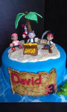 Jake and the Never Land Pirates Cake (2)  Look at this! It was like it was meant to be! LOL!