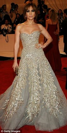 Jennifer Lopez in Zuhair Murad Spring 2010 Couture at the 2010 Met Costume Institute Gala, May 2010