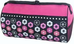 Personalized or Monogrammed Dance by PersonalTouchEMB on Etsy, Size 8 x 14 •Two inside pockets and two outside pockets •Grosgrain ribbon trim •Fully lined with full length top zipper •Personal I.D. Tag  Great for Dance Class, Cheerleading, Ballet, and Gymnastics.  We will embroider a name where the hot pink part of the bag is.. If you don't want a name on the bag we can embroider Cheer, Dance, Gymnast, or any other word you want on the bag