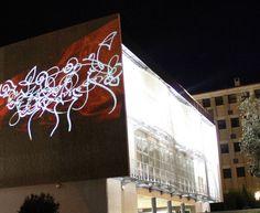 Wall projection graffiti www.matox.fr
