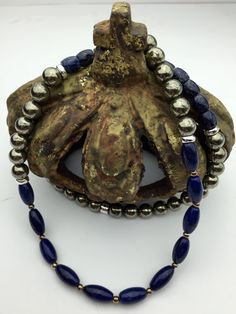 Manifesting!!  Lapis Lazuli, Pyrite and Sterling Silver Necklace by Stone Angel Healing on Etsy