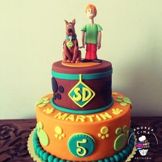 Scooby Doo - cake by Andrea Cima Torta Scooby Doo, Scooby Doo Birthday Cake, 3rd Birthday Cakes, Boy Birthday Parties, Birthday Celebration, Kid Parties, Birthday Ideas, Princess Birthday Cupcakes, Birthday Greetings For Boyfriend