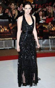 Kristen stewart stunning in roberto cavialli breaking dawn part one premiere in London