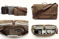 DSLR Camera and Laptop Bag:  Is it a camera bag or a messenger? Only you will know. The Union Street's modern styling offers a sleek alternative to the ubiquitous, boxy camera bag we all know too well. Designed to hold everything you need for a day on the go