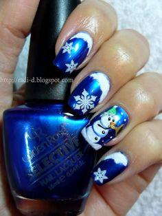 It`s all about nails: Blue christmas #nail #nails #nailart