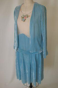 Vintage 1920's Silk Velvet