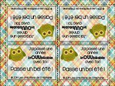 Owl signets pour enseignant-merci//Fin De Terme Cadeau