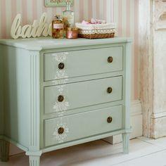 Wooden Desk {Stenciling Ideas} –