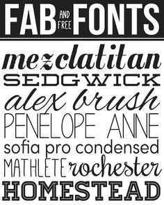 Fab and FREE Fonts we love #fonts #typography