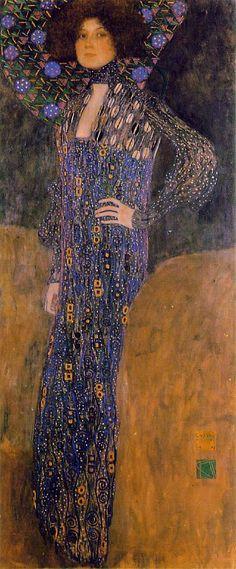 Portrait of Emilie Flöge, made by Gustav Klimt in 1902, as she was preparing to open her great business venture.