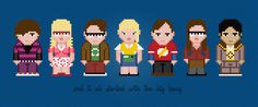 The Big Bang Theory TV Show Characters - Digital PDF Cross Stitch Pattern
