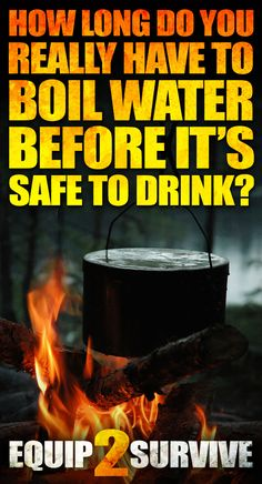 How long do you REALLY have to boil water before it's safe to drink? You might just be surprised at the answer!