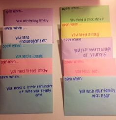 open when letters for your loved one these are adorable and i really want to make them for someone and receive them too my best friend
