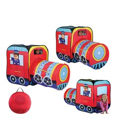 Take a look at this Pop-Up Locomotive Tent & Carry Case by Etna Products on #zulily today! This is too cute, my son would love this.