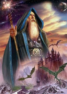 Merlin the Wizard.Before the mystic power can make of thee a god, Lanoo, thou must have gained the faculty to slay thy Lunar form at will.The Serpent Power.or Mystic Fire. Die Nebel Von Avalon, Merlin, Mago Tattoo, Wizard Tattoo, Art Beauté, Fantasy Wizard, Desenho Tattoo, Mystique, Fantasy Artwork