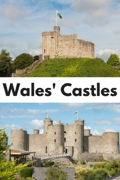 Discovering Wales' castles. A collection of the best castles in Wales and where to find them, including photos to convince you to visit. Must-see Welsh castles like Cardiff, Beaumaris, Harlech, Caernarfon, and Conwy.