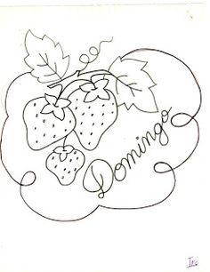 desenho de morangos para pintar