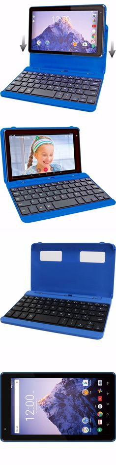Computers Tablets Networking: 2-In-1 Tablet Detachable Keyboard Quad Core 7 16Gb Android 6 Mini Laptop, Blue BUY IT NOW ONLY: $59.99