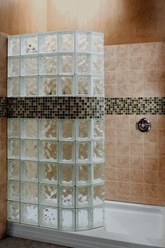 How to convert a tub into a glass block walk in shower. Learn more - http://blog.innovatebuildingsolutions.com/2015/04/25/5-steps-convert-tub-glass-block-walk-shower/
