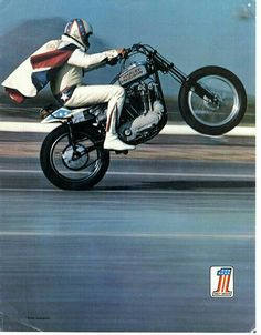 """In Elvis Presley released the hit song """"All Shook Up"""", the first Frisbee was produced, and the Harley-Davidson Sportster model motorcycle was introduced. Cool Motorcycles, Vintage Motorcycles, American Motorcycles, Vintage Motocross, Triumph Motorcycles, Evil Kenevil, Foto Picture, Motos Harley Davidson, Street Bob"""