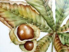 Hand painted horse chestnut by Mark Jones