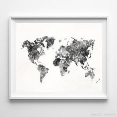 Inkist Prints offers unique art prints and posters at great prices! Check our vivid yet mellow World Map watercolor map print, suitable for your home! World Map Wall Decor, World Map Poster, World Map Wall Art, Home Decor Wall Art, Art World, Map Posters, Water Color World Map, Watercolor Artwork, Watercolour