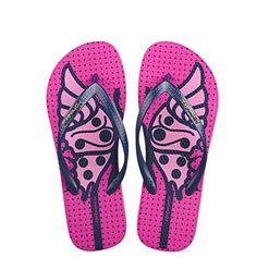 1dc47ce8ffd7 Women s Wedges Flip Flops Rubber Slipper Ladies Beach Shoes Outsole Summer 2017  Sandals For Women Deep pink