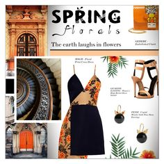"""""""SPRING FLORALS"""" by larissa-takahassi ❤ liked on Polyvore featuring MSGM, TAXI, Giuseppe Zanotti, Fendi, Spring, dress, florals, nature and Earth"""