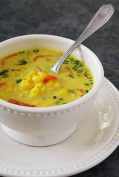 Thai coconut corn soup