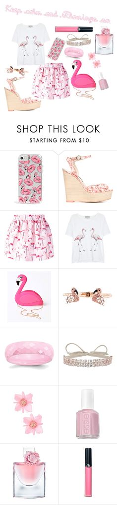 """""""keep calm and flamingo on"""" by grace-buerklin ❤ liked on Polyvore featuring Skinnydip, Sophia Webster, RED Valentino, Wildfox, Lulu Hun, Kate Spade, Fallon, Essie, Lancôme and Armani Beauty"""