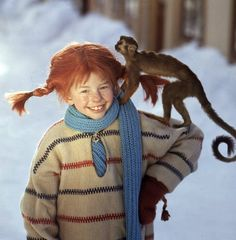Nordic Makers - Pippi Longstocking wearing traditional swedish fisherman's sweater