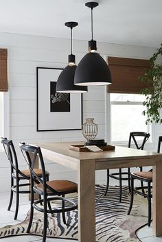 Available In Matte Black Or Flat White Finishes, All Brynne Pendant Lights  Come With Two Sets Of Fitters ...