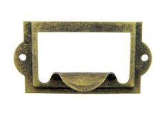 Cardholder 2 Width x 1 Height Available In: Antique, Black, Brass, and Nickel Finish Screws Not Included. La Forge, Home Office Organization, Flat Head, Nickel Finish, Card Sizes, Card Holder, Label, Antiques, Crafts