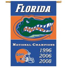 NCAA Officially licensed products Florida Gators X Banner W/ Pole Sleeve Champ Years Commemorate the championship years of your favorite team Florida Gators Football, Sec Football, College Football, Gators Vs Seminoles, Uf Gator, Football Helmets, Georgia Southern University, University Of Florida, Northern Iowa