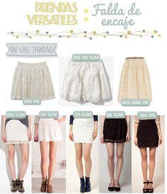 Prendas versátiles: Falda de encaje | Aubrey and Me