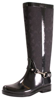 Coach Lux A7760 Women's Rubber Rain Boots Riding | eBay