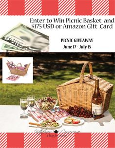 It's time for another giveaway, sponsored by Katherine's Corner! This summer PICNIC GIVEAWAY features a picnic basket filled up with lots of summer getaway goodies, AND a cash prize wor…