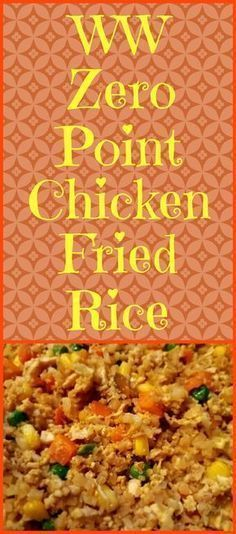Chicken Fried Rice Chicken Fried Rice,Weight watchers Enjoy this chicken fried rice recipe using riced cauliflower instead of the traditional rice. It is zero points on the Weight Watchers Freestyle program! Poulet Weight Watchers, Plats Weight Watchers, Weight Watchers Smart Points, Weight Watchers Free, Weight Watchers Chicken, Diabetic Weight Watchers, Weight Watcher Dinners, Weight Loss Meals, Healthy Dinner Recipes For Weight Loss