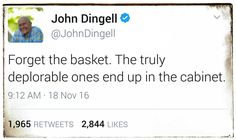 "Pp: ""Nailed it, Mr. Dingell!!"" ...can't argue with the man there, so far..."