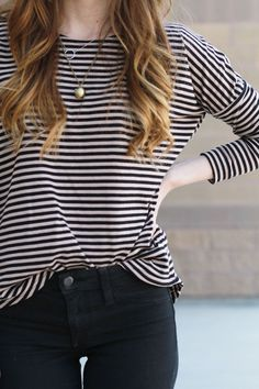 The one printed shirt that'll get plenty of use in your closet — the striped tee.